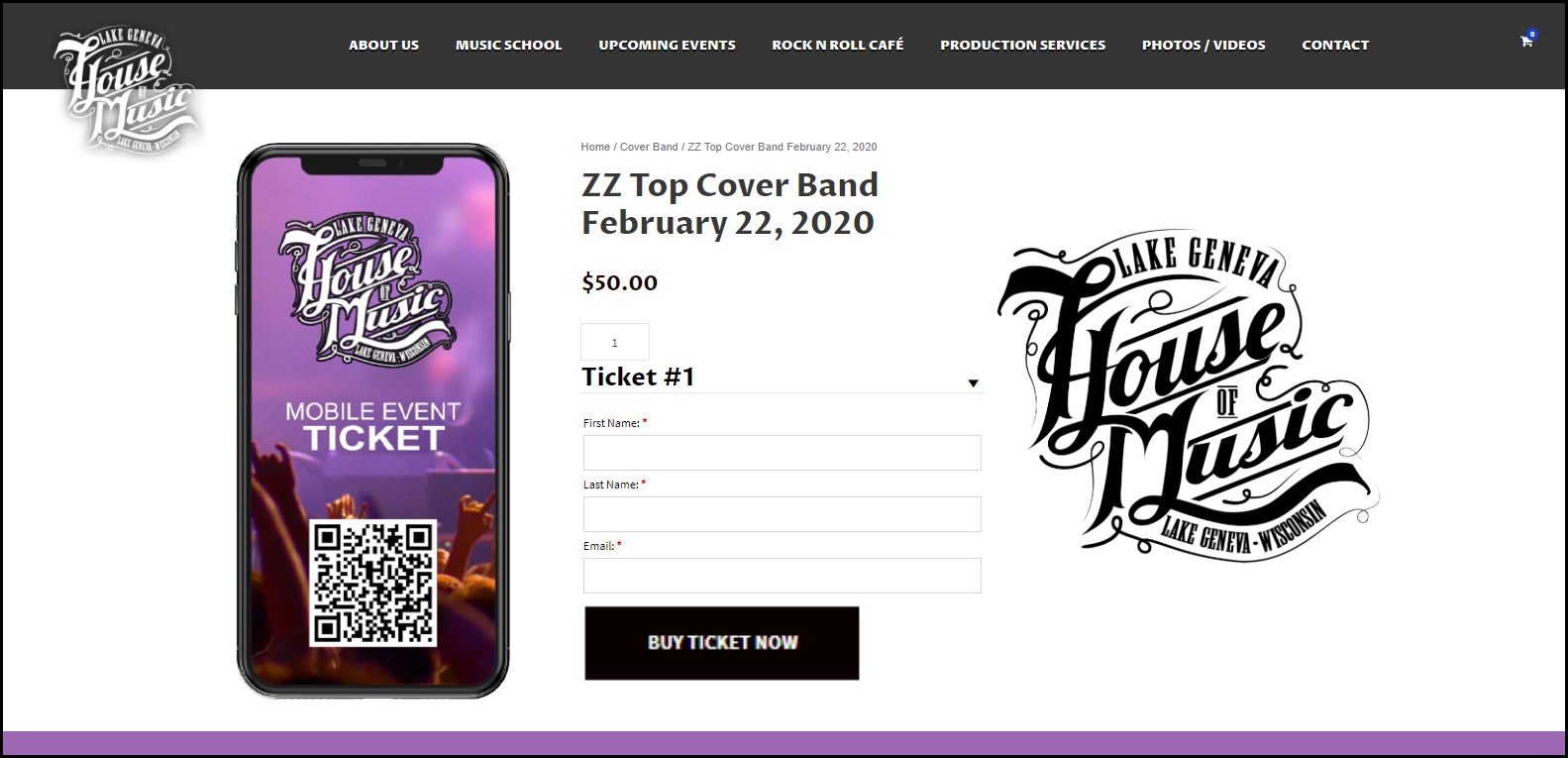 House of Music Mobile Ticket